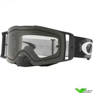 Oakley Frontline MX Crossbril Mat Zwart - Clear Lens