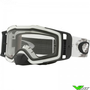 Oakley Frontline MX Crossbril Mat Wit - Clear Lens