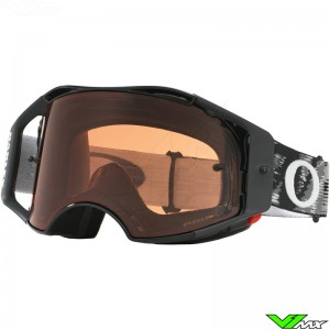 Oakley Airbrake MX Crossbril Jet Speed Zwart - Prizm Bronze Lens