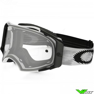 Oakley Airbrake MX Crossbril Mat Speed Wit - Clear Lens