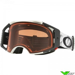Oakley Airbrake MX Crossbril Mat Speed Wit - Prizm Bronze Lens