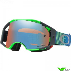Oakley Airbrake MX Goggle Shockwave Blue Green - Prizm Sapphire Lens