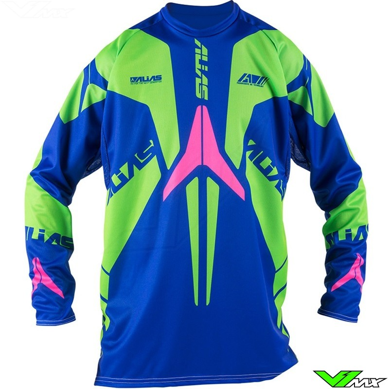 Alias A1 MX Jersey Blue / Neon Green (M)