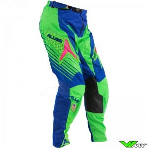 Alias A1 MX Pants Blue / Neon Green (32/34)