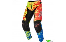 Alpinestars Racer Braap Crossbroek Rood / Blauw / Lime (30)