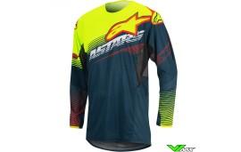 Alpinestars Techstar Motocross Jersey Petrol / Fluo Yellow (S/M)