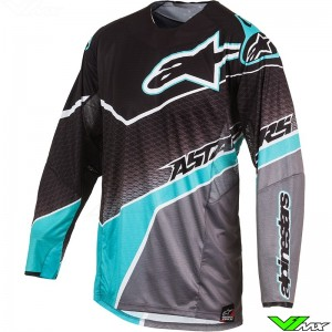 Alpinestars 2017 Techstar Venom MX Jersey Black / Gray / Teal