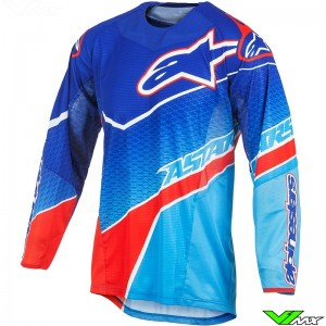 Alpinestars Techstar Venom Jersey Blue / Cyan / Red