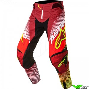 Alpinestars Techstar Factory MX Pants Red / Fluo Yellow (30)