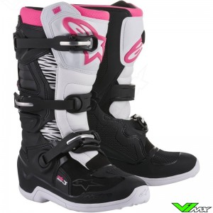 Alpinestars 2018 Stella Tech 3 MX Boots Black / White / Pink