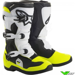 Alpinestars 2018 Tech 3S Youth MX Boots Black / White / Fluo Yellow