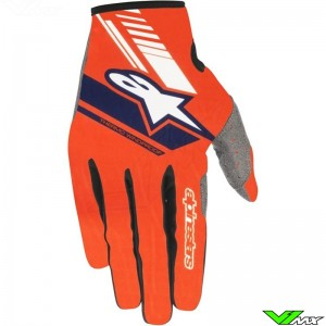 Alpinestars 2018 Neo MX Gloves Fluo Orange / Dark Blue