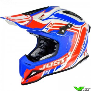 Just1 J12 MX Helmet Flame Red Blue