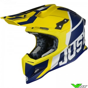 Just1 J12 MX Helmet Unit Blue Yellow