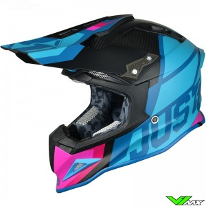 Just1 J12 Motocross Helmet Unit Blue Pink