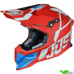 Just1 J12 MX Helmet Unit Red White