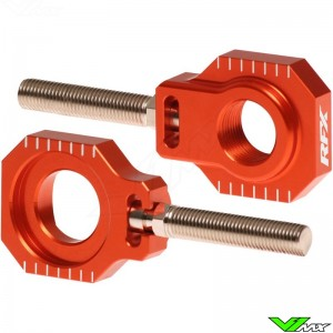 RFX Rear Axle Adjuster Blocks Orange - KTM