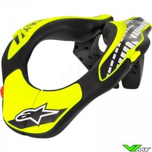 Alpinestars 2018 Youth Neck Support Nekbrace Black / Fluo Yellow
