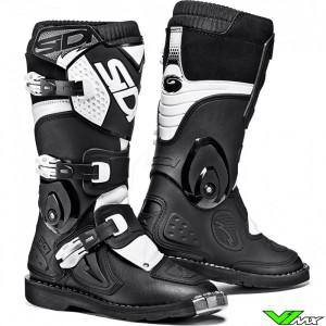 Sidi Flame Kids Motocross Boots Black White