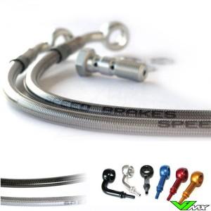 Speedbrakes Voor Remleiding Stainless Steel - Suzuki RM125 RM250