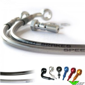 Speedbrakes Voor Remleiding Stainless Steel - Suzuki RM250