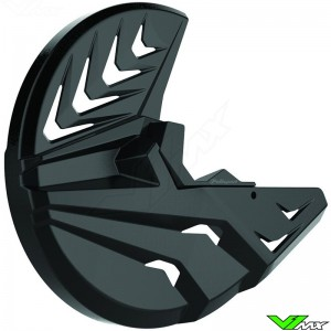 Polisport Remschijfbeschermer + Onderste Voorvorkbeschermer Zwart - Kawasaki KXF250