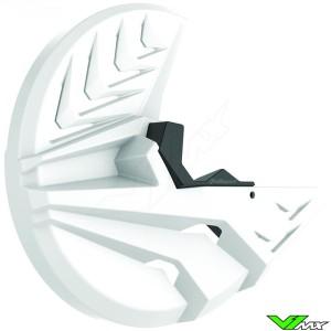 Polisport Remschijfbeschermer + Onderste Voorvorkbeschermer Wit - Kawasaki KXF250