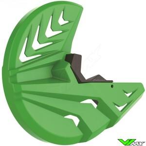 Polisport Remschijfbeschermer + Onderste Voorvorkbeschermer Groen - Kawasaki KXF250