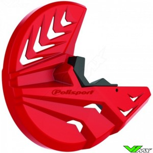 Polisport Brake Disc Protector + Bottom Fork Protector Red - Honda CRF450R