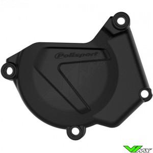 Polisport Ignition Cover Protector Black - Yamaha YZ250