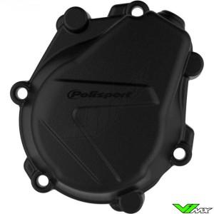 Polisport Ignition Cover Protector Black - KTM 450SX-F 450EXC 500EXC Husqvarna FC450 FE450 FE501 FX450