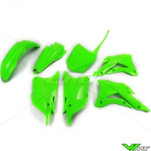 UFO Plastic Kit Fluo Green - Kawasaki KX85