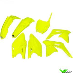 UFO Plastic Kit Fluo Yellow - Suzuki RMZ250