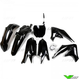UFO Plastic Kit Black - Yamaha YZF250 YZF450
