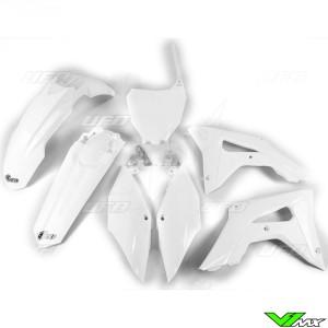 UFO Plastic Kit White - Honda CRF250R CRF450R