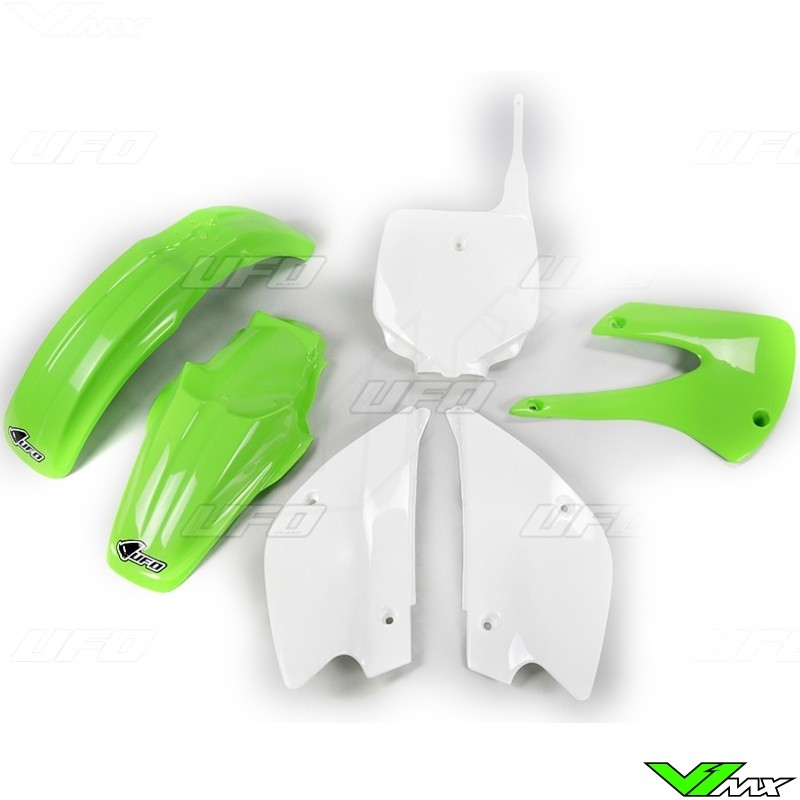 UFO Plastic Kit OEM - Kawasaki KX80 on