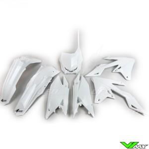 UFO Plastic Kit White - Suzuki RMZ250 RMZ450