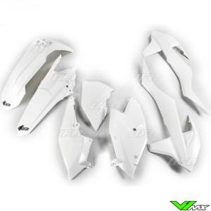 UFO Plastic Kit White - KTM 250EXC 300EXC 450EXC 500EXC 250EXC-F 350EXC-F