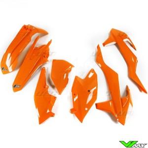 UFO Plastic Kit Orange - KTM 250EXC 300EXC 450EXC 500EXC 250EXC-F 350EXC-F