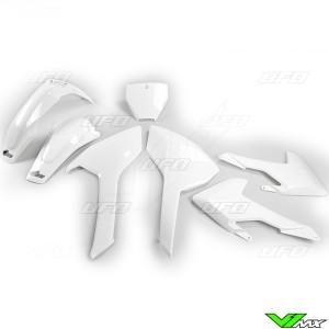 UFO Plastic Kit White - Husqvarna FC250 FC350 FC450 TC125 TC250