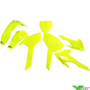 UFO Plastic Kit Fluo Yellow - Husqvarna FC250 FC350 FC450 TC125 TC250