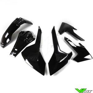 UFO Plastic Kit Black - Husqvarna FE250 FE350 FE450 FE501 TE150 TE250 TE300 TX125 TX300