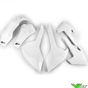 UFO Plastic Kit White - Husqvarna FE250 FE350 FE450 FE501 TE150 TE250 TE300 TX125 TX300