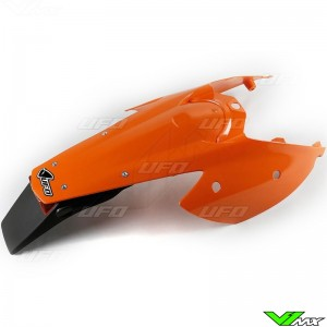 UFO Rear Fender / Side Number Plate Orange with light - KTM 200EXC 250EXC 300EXC 400EXC 450EXC 525EXC 250EXC-F
