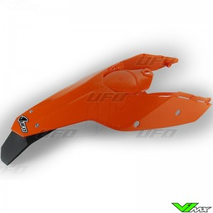 UFO Rear Fender / Side Number Plate Orange - KTM
