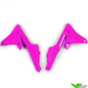 UFO Radiator Shrouds Fluo Pink - Yamaha YZF250 YZF450 WR250F WR450F