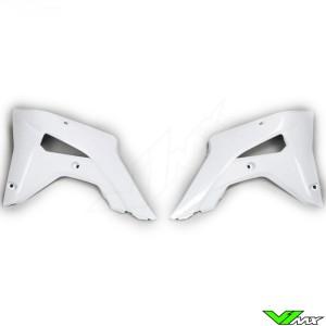 UFO Radiator Shrouds White - Honda CRF250R CRF450R CRF250RX CRF450RX