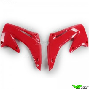 UFO Radiator Shrouds Red - Honda CR125 CR250