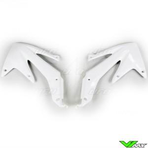 UFO Radiator Shrouds White - Honda CRF450X