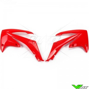 UFO Radiator Shrouds Red - Honda CRF250R CRF450R
